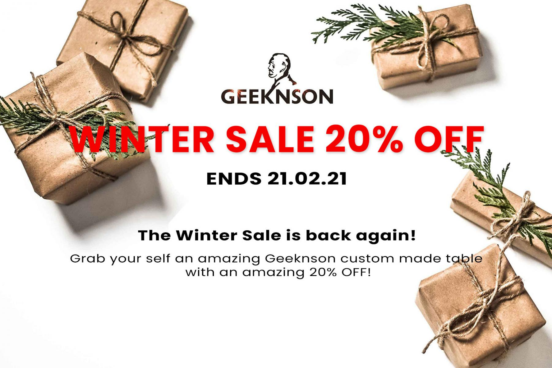 geeknson winter sale